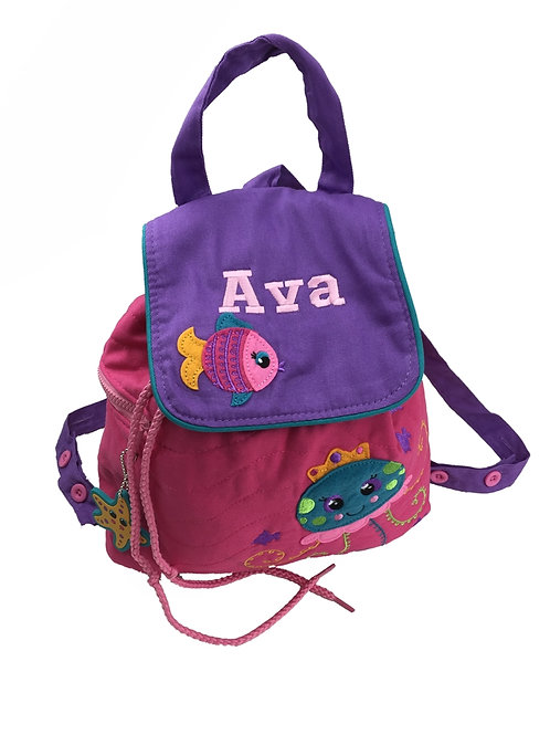 Sample Sale -Personalised 'Sealife' Backpack / Ruck Sack Ava