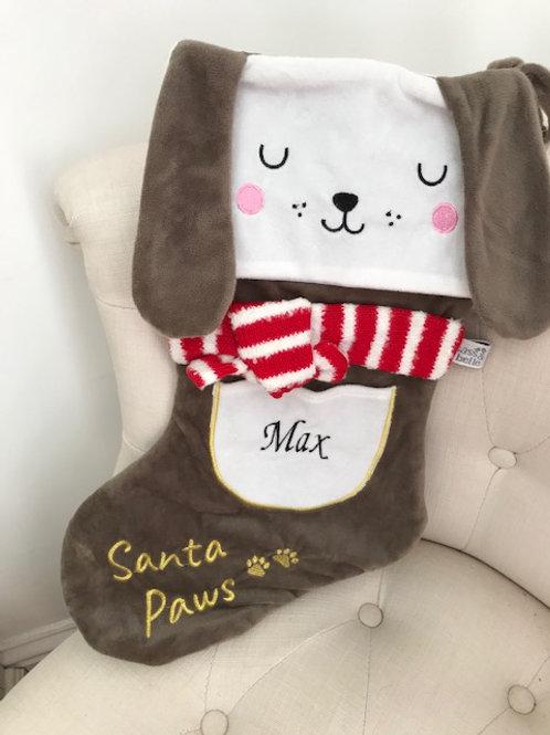 Personalised Barney The Dog Christmas Stocking