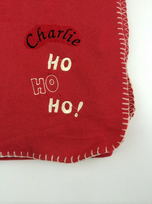Personalised Ho Ho Ho Christmas Blanket 120x150cm