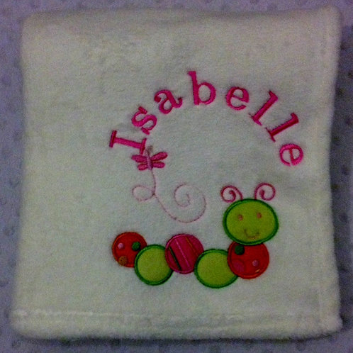 Personalised Caterpillar Blanket