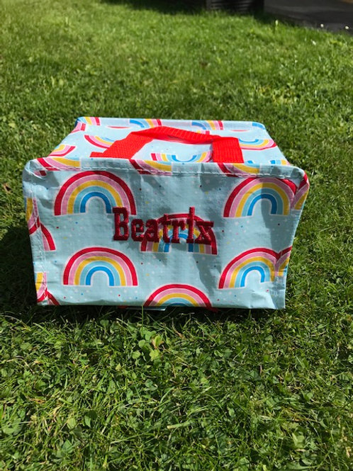 Personalised Chasing Rainbows Insulated Lunch Bag