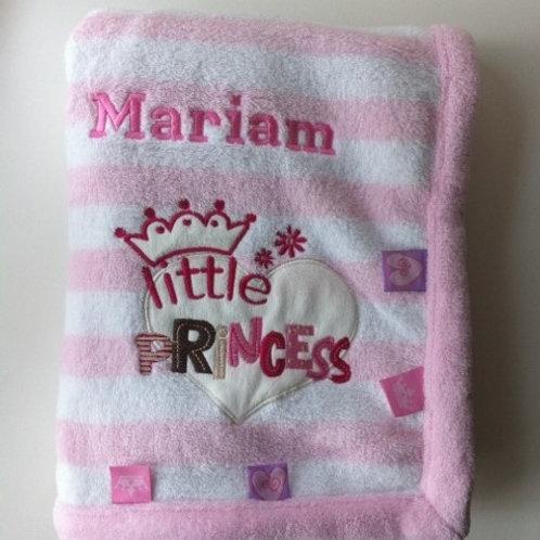 Personalised Little Princess Blanket