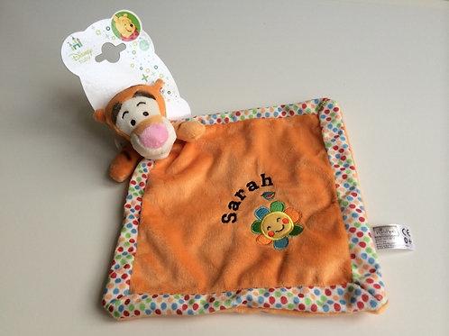 Personalised Tigger Orange Comforter.