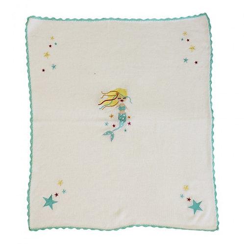 Personalised Mermaid Themed Baby Blanket