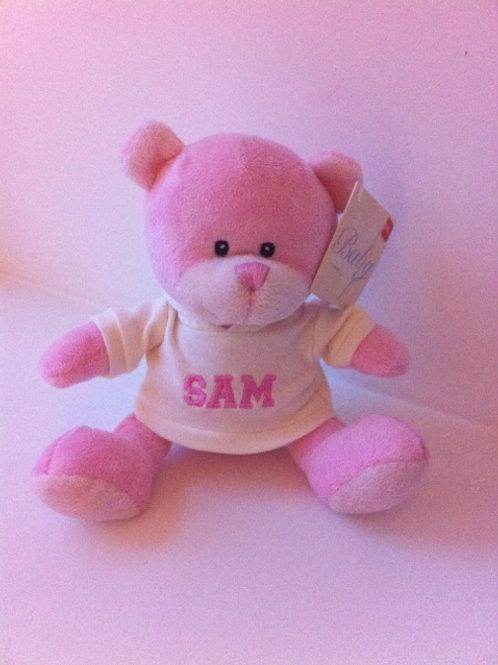 Personalised Pink Teddy Bear