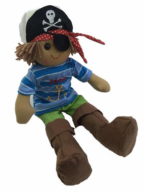 Beautiful Personalised Rag Doll - Pirate