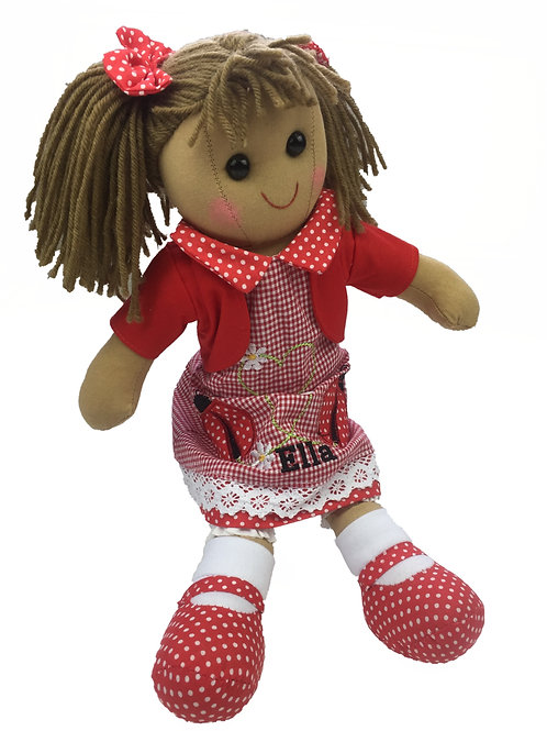 Beautiful Personalised Rag Doll - 'Ladybird'