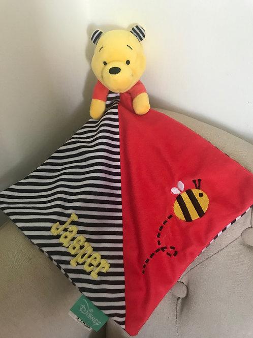 Personalised Disney Winnie The Pooh Baby comforter
