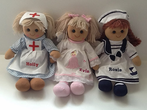 Personalised Rag Doll - choice of three