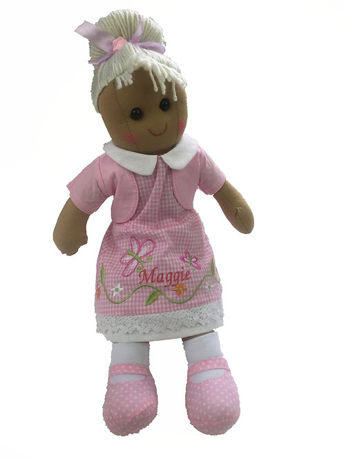 Beautiful Personalised Rag Doll - 'Pink Butterfly'