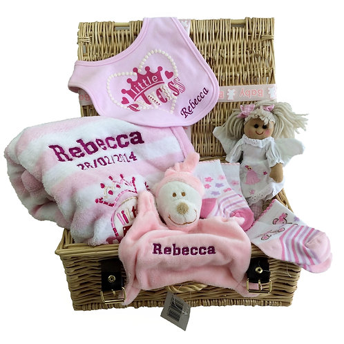 Personalised New Arrival Luxury Baby Gift Hamper