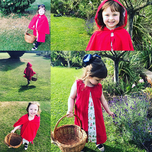 Personalised Powell Craft Red Riding Hood Dress Age 6-7 Years