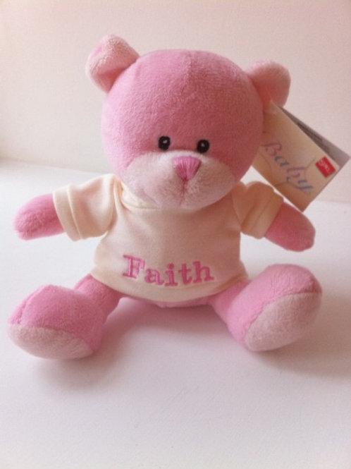 Personalised Teddy in Pink