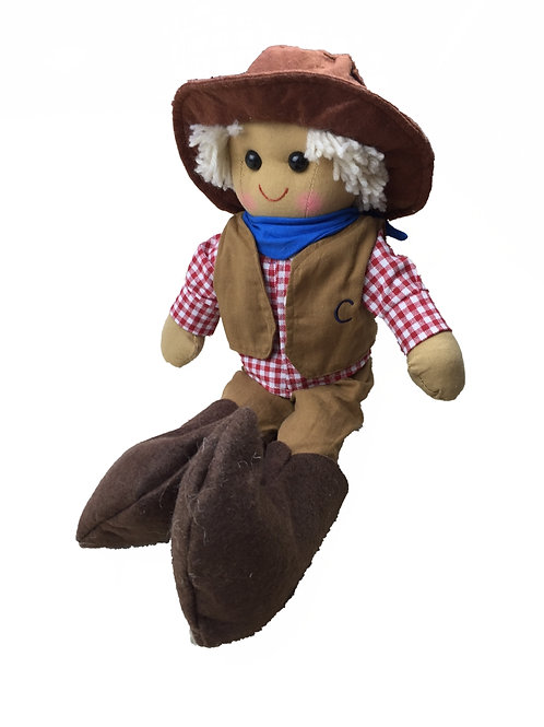 Beautiful Personalised Rag Doll - Cowboy