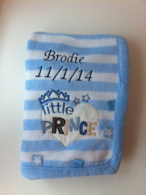 Personalised Little Prince Blanket