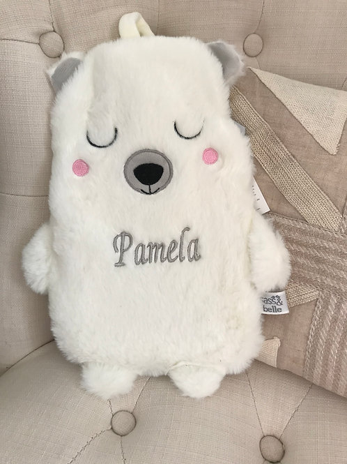 Personalised Nanook Polar Bear Hot Water Bottle