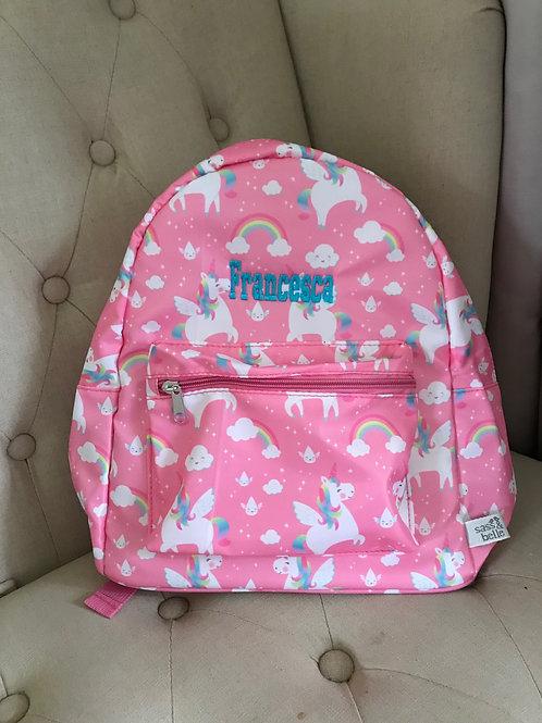 Rainbow Unicorn Personalised Backpack