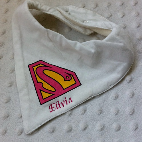 Super Girl Dribble Bib