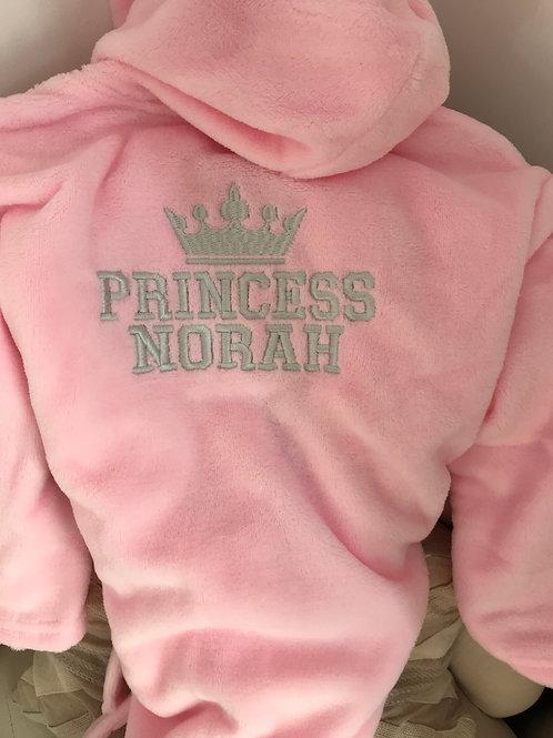 Little Princess Girls Toddler Childs Dressing gown