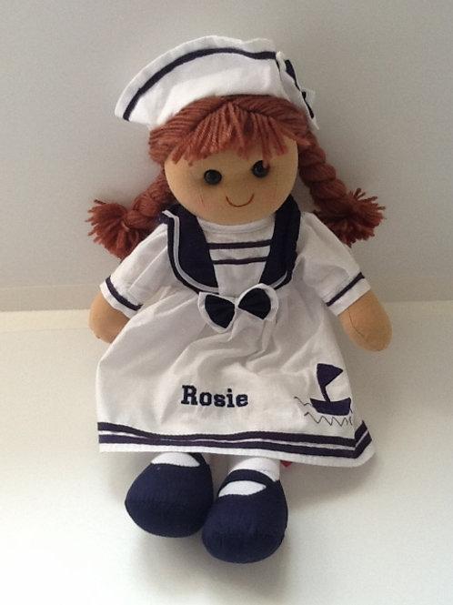 Beautiful Personalised Rag Doll - Sailor