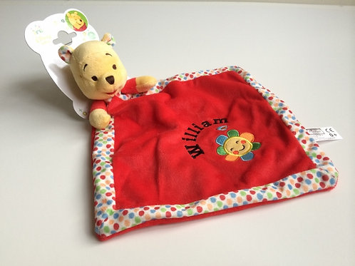 Disney's Winnie The Pooh Red Baby Comforter
