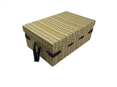 Gift Box -  Wicker Effect Cardboard