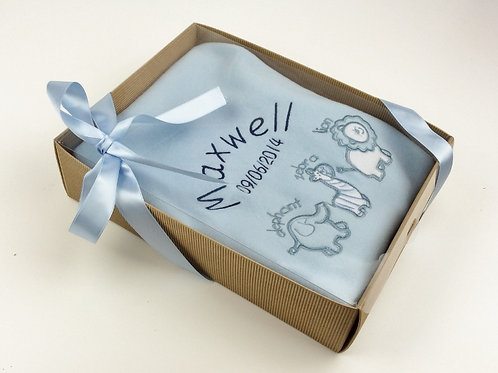 Personalised Animal Design Blanket In Cupcake Gift Box