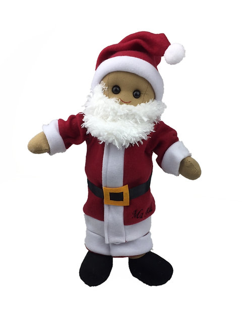 Beautiful Personalised Rag Doll - Santa