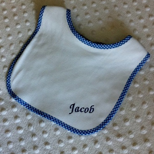 Blue Gingham Bib