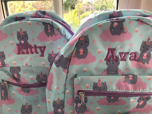 Personalised Caticorn Backpack