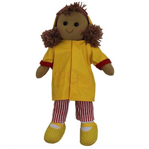 Personalised Yellow Raincoat Mac Rag Doll