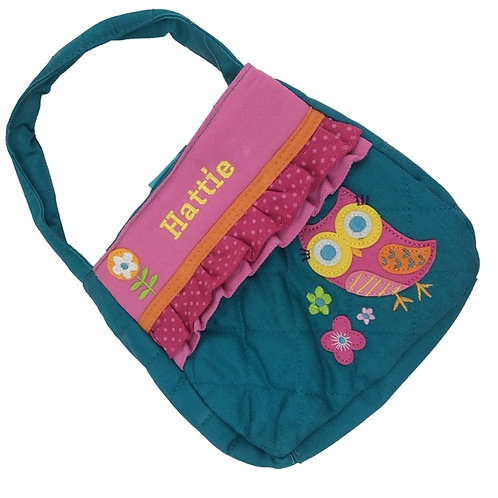 Personalised Teal Owl'' Purse. Great Childs Gift