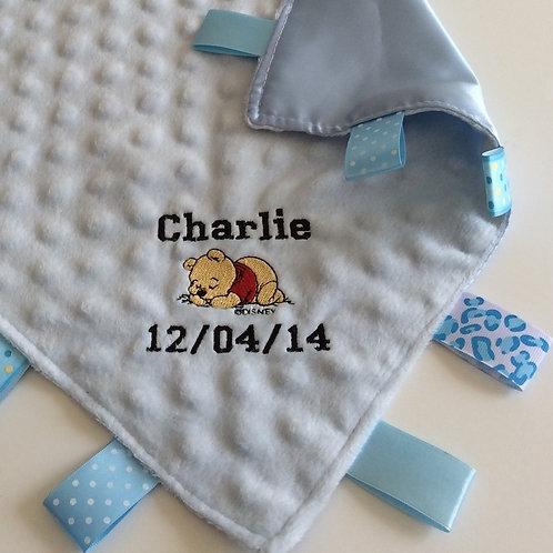 Personalised Baby Taggie Comforter / Blanket