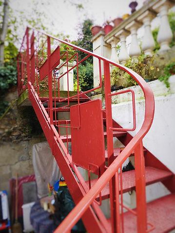 escalier extérieur sur mesure en métal férronnier 94
