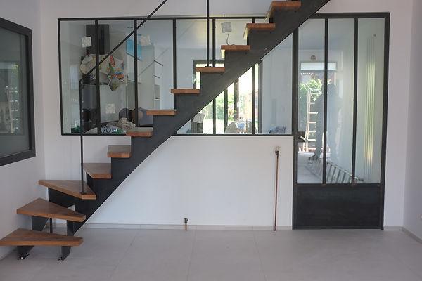 escalier metal et bois fabrication ferronnerie paris