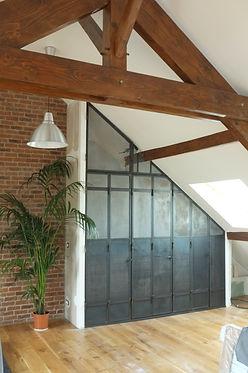 porte placard verriere industrielle ferronier fontennay sous bois