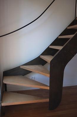 escalier sur mesure en métal marche en bois férronnier 92 en bois