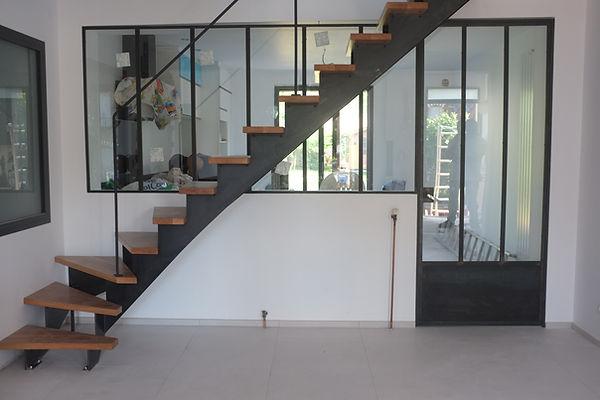 intérieur métal escalier et vérriere porte intérieur métal