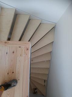 escalier quart tournant sur mesure métal bois ferronnier paris vincennes 94