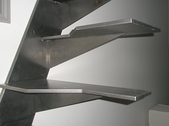 escalier à pas japonais en acier férronnier  92