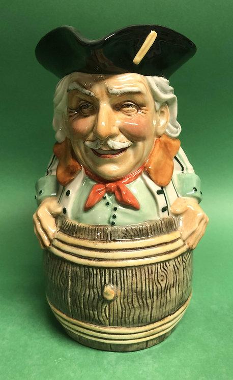 Vic in a Barrel toby jug by Kevin Francis Ceramics