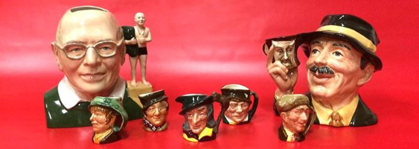 Steve Mullins character jug long with Royal Doulton characterjugs