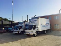 Flota de camiones para mudanzas