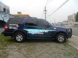 Rotulación de vehículo de Policia