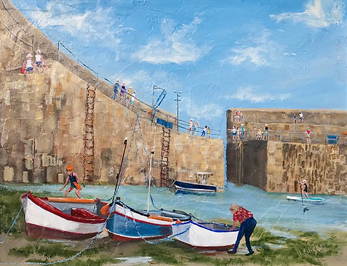 Summer Fun (Mousehole)-Jeanette Ellison (Gillchrest)