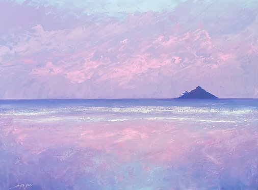 Sunset at St Michael's Mount- Signed Print