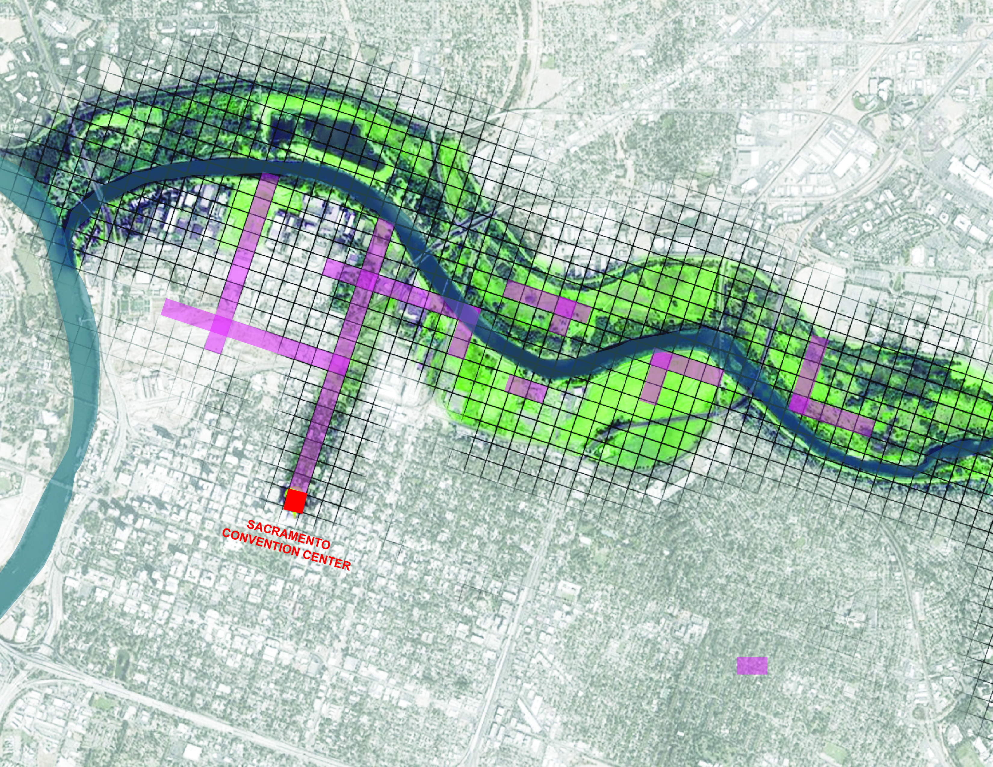 American River Map