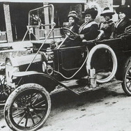 Madam CJ Walker driving her motor car