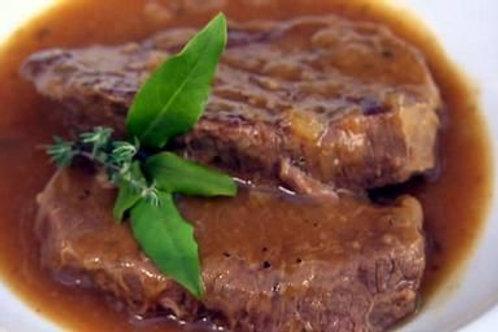 Sliced Casserole Steak (lb) - 3 portions per lb