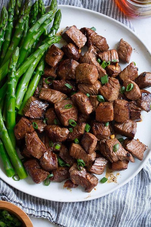 Extra Lean Diced Steak (lb) - 3 portions per lb